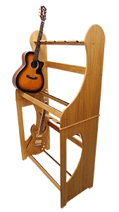 Handmade Wooden Guitar Stands - Two Tier Multi Guitar Stand - Made to Order