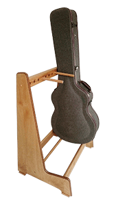 Handmade Guitar Stands - Solid Oak Guitar Case Stand - Made to Order
