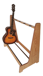 Handmade Guitar Stands - Solid Oak Multi-Guitar Stand - Made to Order