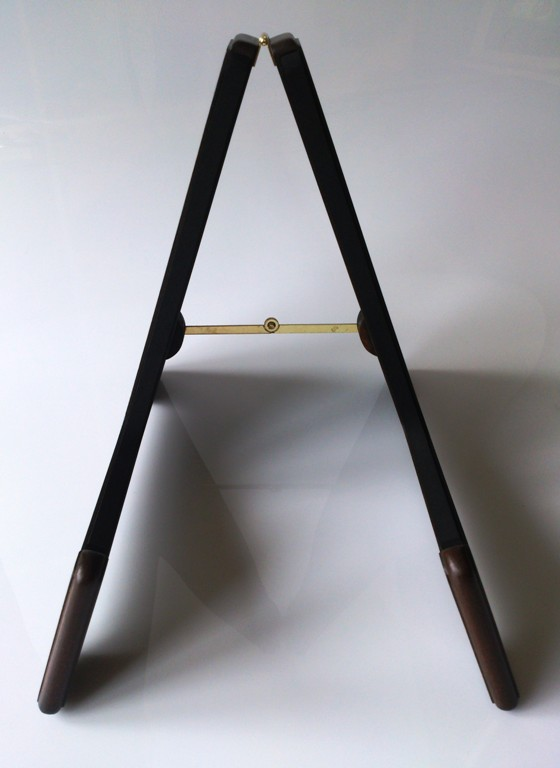 handmade Dark Oak Wooden guitar floor stand