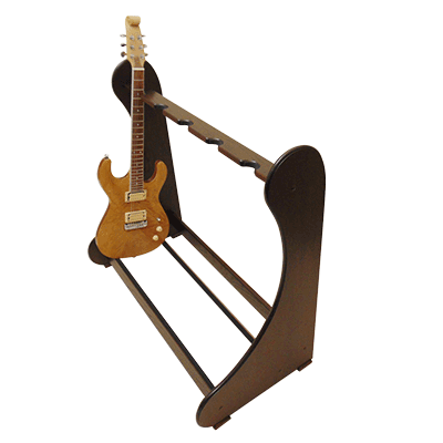 Antique Oak Classic Multi Guitar Stands - Shop online at www.stand-made.co.uk