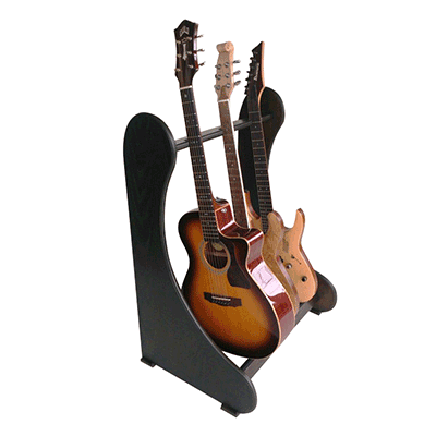 Guitar Stand for multiple acoustic and electric guitars. Handmade to order. View full range online at www.stand-made.co.uk