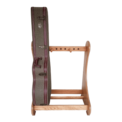 Handmade Multiple Guitar Case Storage Stand in Real Oak Wood. View our range of classic style stands at www.stand-made.co.uk