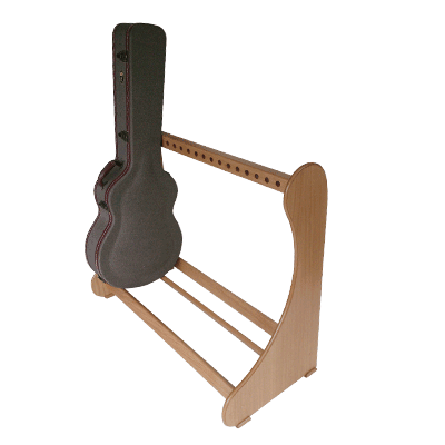 Light Oak Classic Guitar Case Rack. Shop online at www.stand-made.co.uk