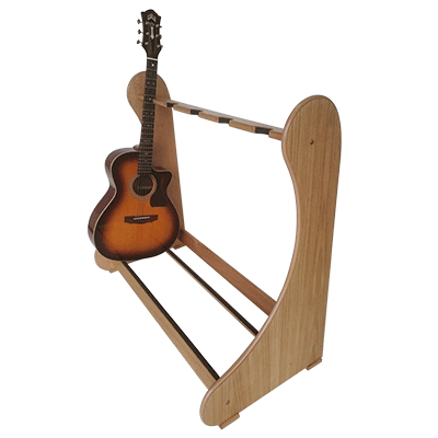 Light Oak Classic Multi Guitar Stands - Shop online at www.standmade.co.uk