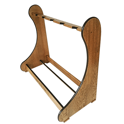 Weathered Oak Classic Multi Guitar Stands. A stylish, yet practical solution for displaying multiple guitars. View & Order Online Here. - Shop online at www.stand-made.co.uk