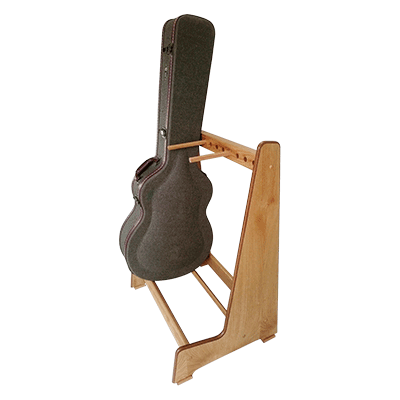 Handmade Multiple Guitar Case Storage Stand in Real Oak Wood. View our range of Retro style stands at www.stand-made.co.uk