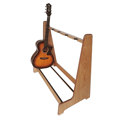 Light Oak Retro Multi Guitar Stands. Shop online at www.stand-made.co.uk