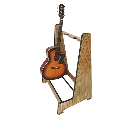 Weathered Oak Retro Multi Guitar Stands - Shop online at www.stand-made.co.uk